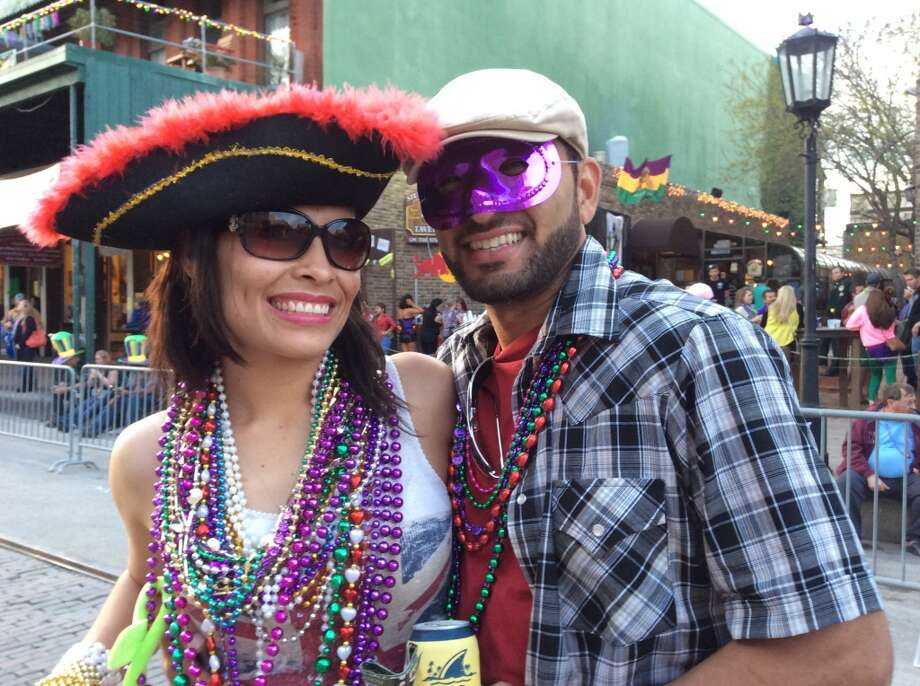 You're the loudest one at Mardi Gras Galveston even though a) it's still daytime and b) you're sober. Photo: Andrea Waguespack/Houston Chronicle