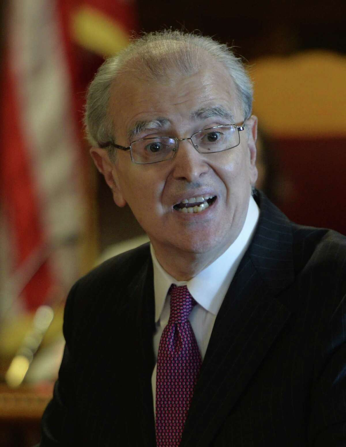 New York State Court of Appeals Chief Judge Jonathan Lippman gives his State of the Judiciary address in Court of Appeals Hall Tuesday afternoon Feb. 11, 2014 in Albany, N.Y. (Skip Dickstein / Times Union) ORG XMIT: MER2014021115063248