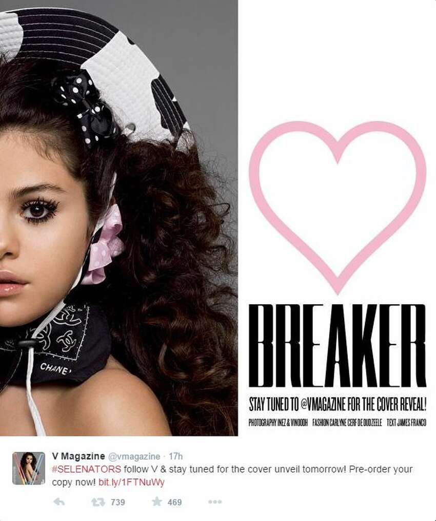 Selena Gomez strayed further from her Disney Channel image when she went topless for a photo shoot with