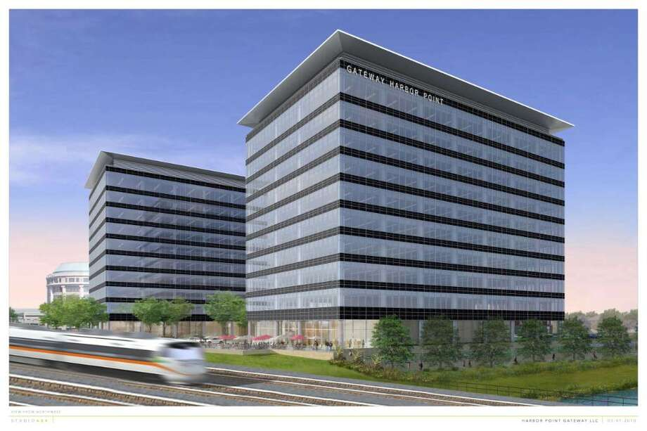 An architectural rendering of the proposed Gateway Harbor Point office buildings. Photo: Contributed Photo / Stamford Advocate Contributed