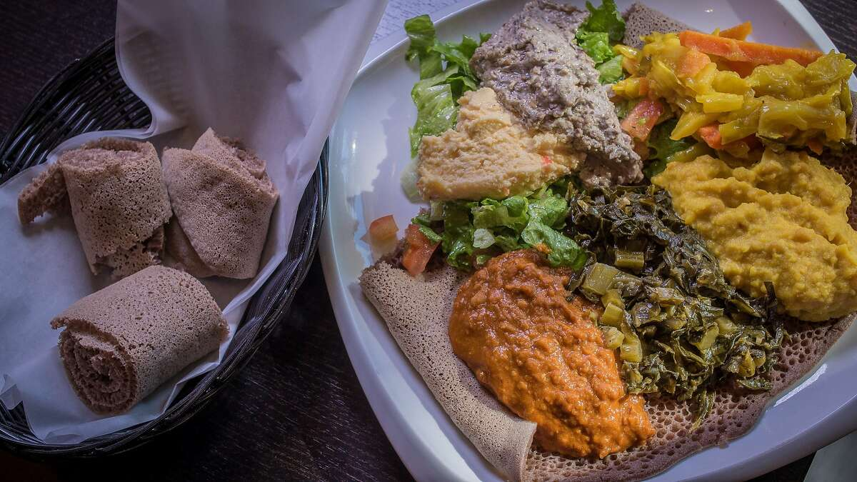 More good Ethiopian. The most highly rated Ethiopian restaurant in S.F. on Yelp is Tadu, and if you haven't been, you should go and try the vegetarian plate. But this place is tiny and best for take-out; the city could certainly use a restaurant with food this good but better atmosphere and more seating.