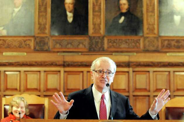 Chief Judge Jonathan Lippman delivers the State of the Judiciary on Tuesday, Feb. 17, 2015, at the Court of Appeals in Albany, N.Y. (Cindy Schultz / Times Union) Photo: Cindy Schultz / 00030651A