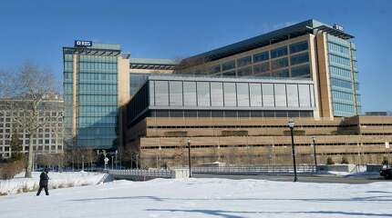 The RBS building in Stamford, Conn., on Tuesday, February 17, 2015. The City of Stamford reported a drop in the number of employees at RBS for the first time.