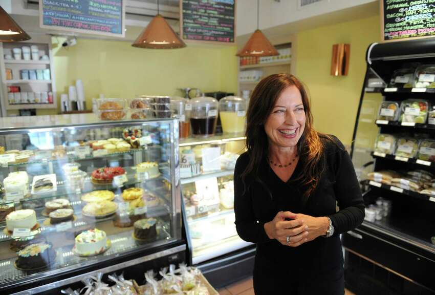 Aux Delices owner Debra Ponzek along with Food Network's Aaron Sanchez, is being honored at Greenwich Hospital's