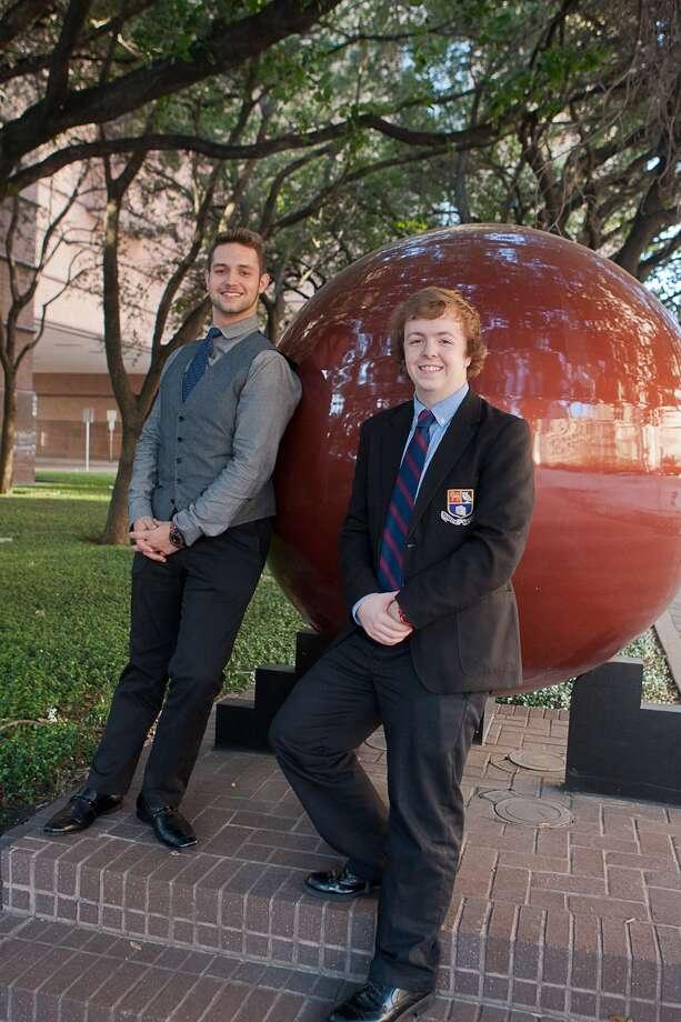 Charlie Reader, right, and Tyler Resto are part of the Houston Grand Opera High School Voice Studio  training program. Photo: R. Clayton McKee, Freelance / © R. Clayton McKee