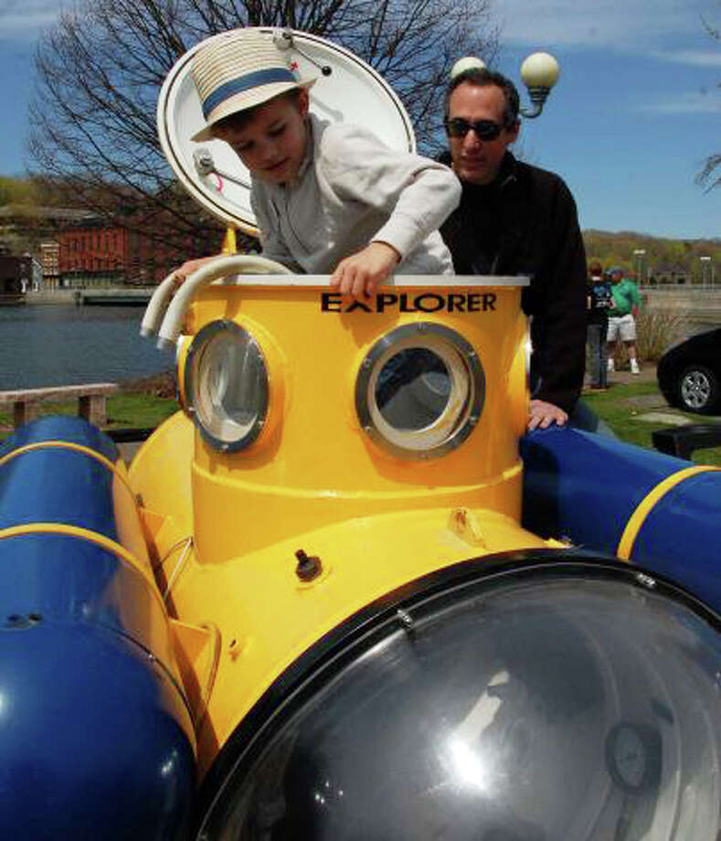 Gadgets, gizmos, tehcnology and inventions -- like this mini submarine --- will be on display at the 4th annual Westport Mini Maker Faire on April 25 at the Westport Library. Photo: File Photo / Westport News
