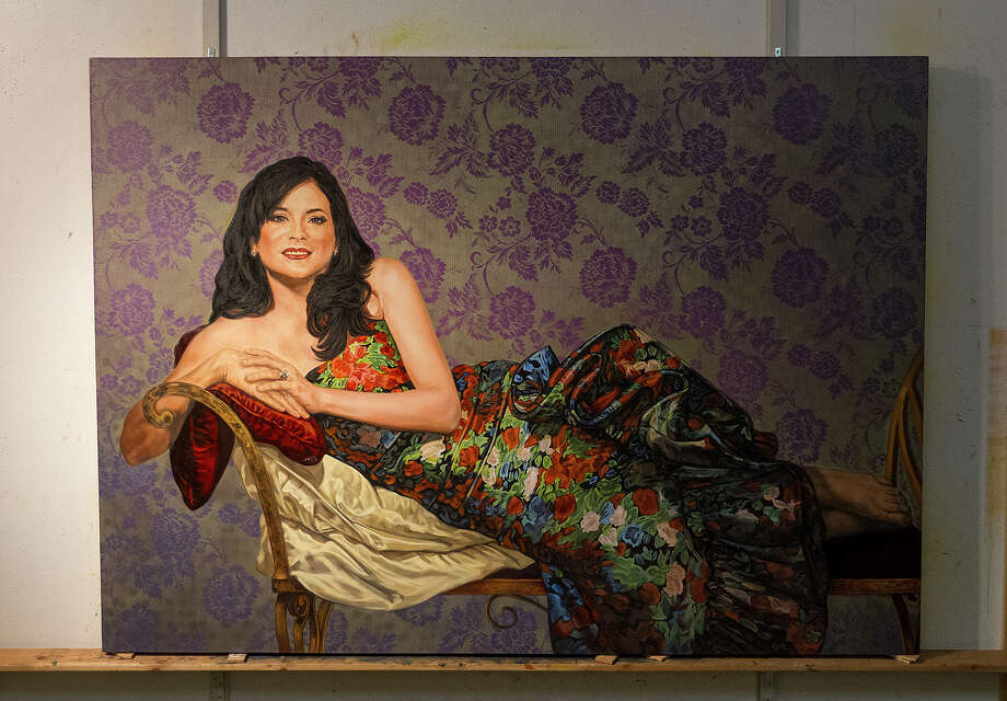 Another portrait by Angel Rodriguez-Diaz in his studio on Frederickburg Road, Friday, Feb. 13, 2015. Photo: Alma E. Hernandez, For The San Antonio Express News / Alma E. Hernandez / For The San
