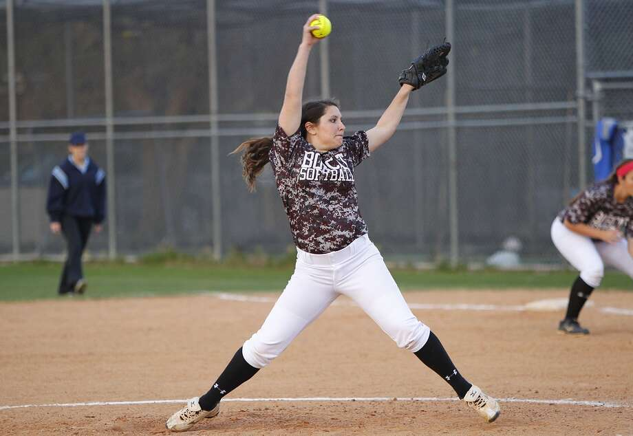 Cy-Fair pitcher Simone Langland winds up for the pitch as the Lady Bobcats took on Katy Taylor in a preseason scrimmage last week. Photo: Diana L. Porter, Freelance / © Diana L. Porter