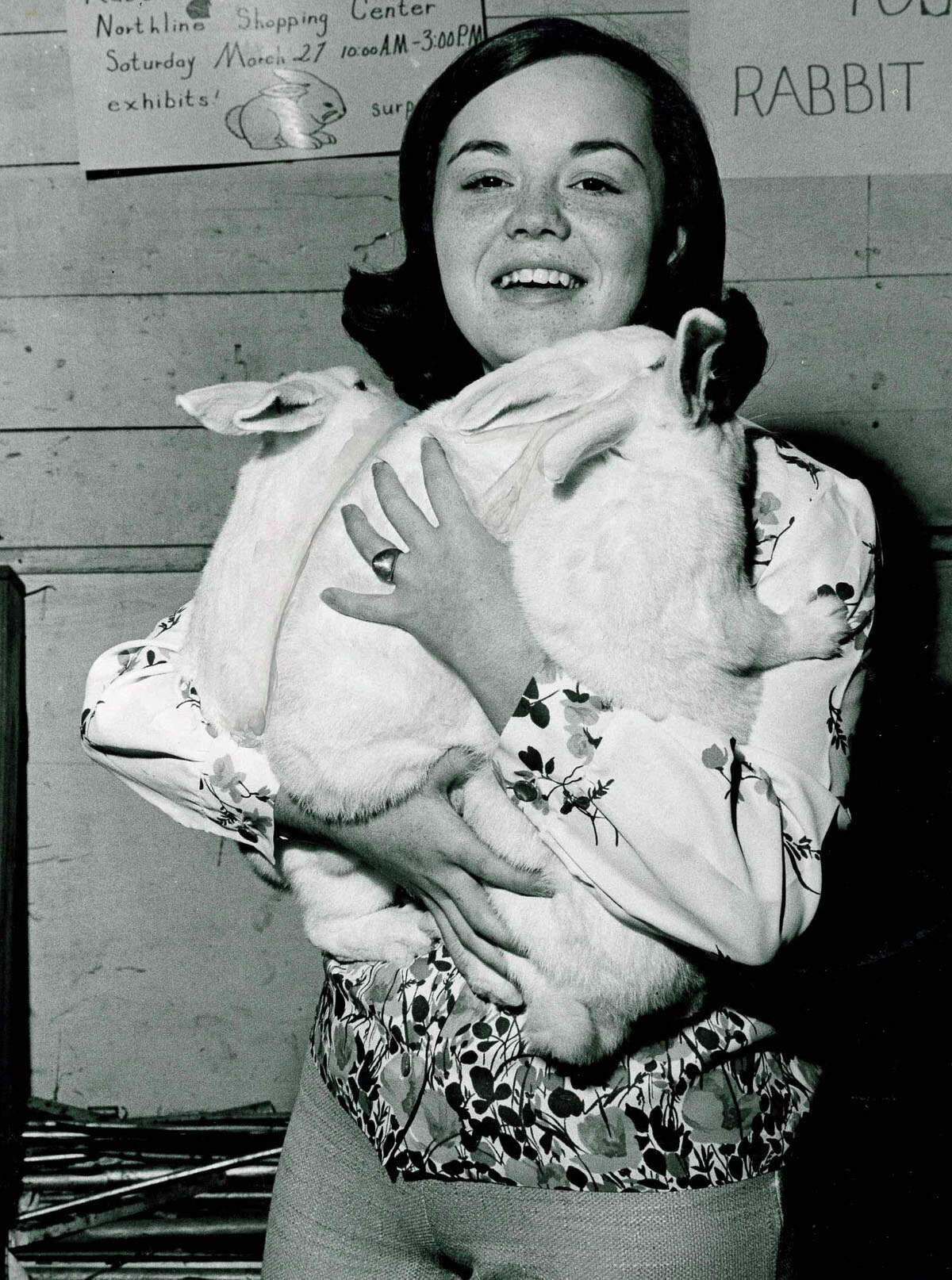 Carole Travis holds the grand champion pen of rabbits at the 1965 Houston Livestock Show and Rodeo.  >>> Click through to see more vintage photos of Rodeo Houston ...