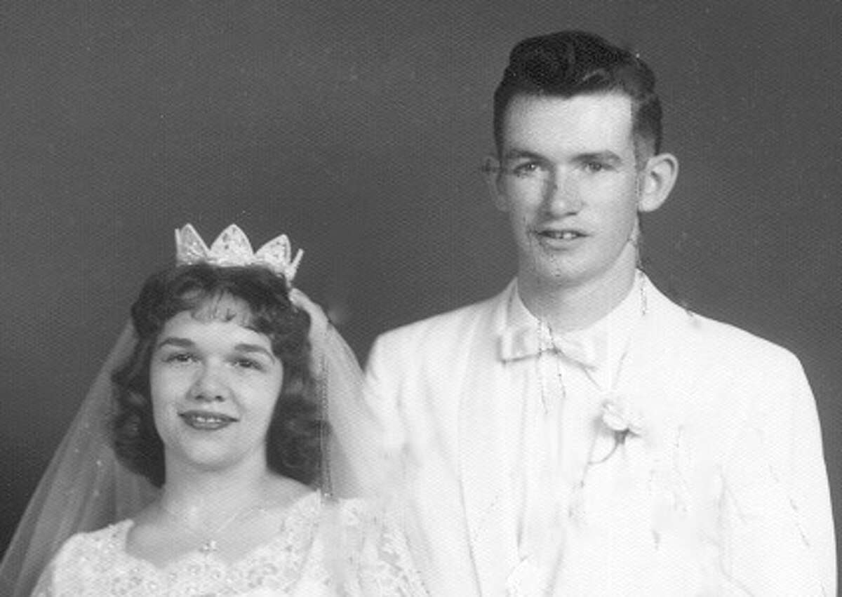 Mom and Dad: Judith Marie Siedlecki and Gerald David McMurray, July 1961.