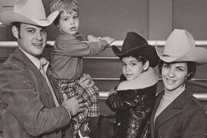 Family time at the 1965 Houston Livestock Show and Rodeo.
