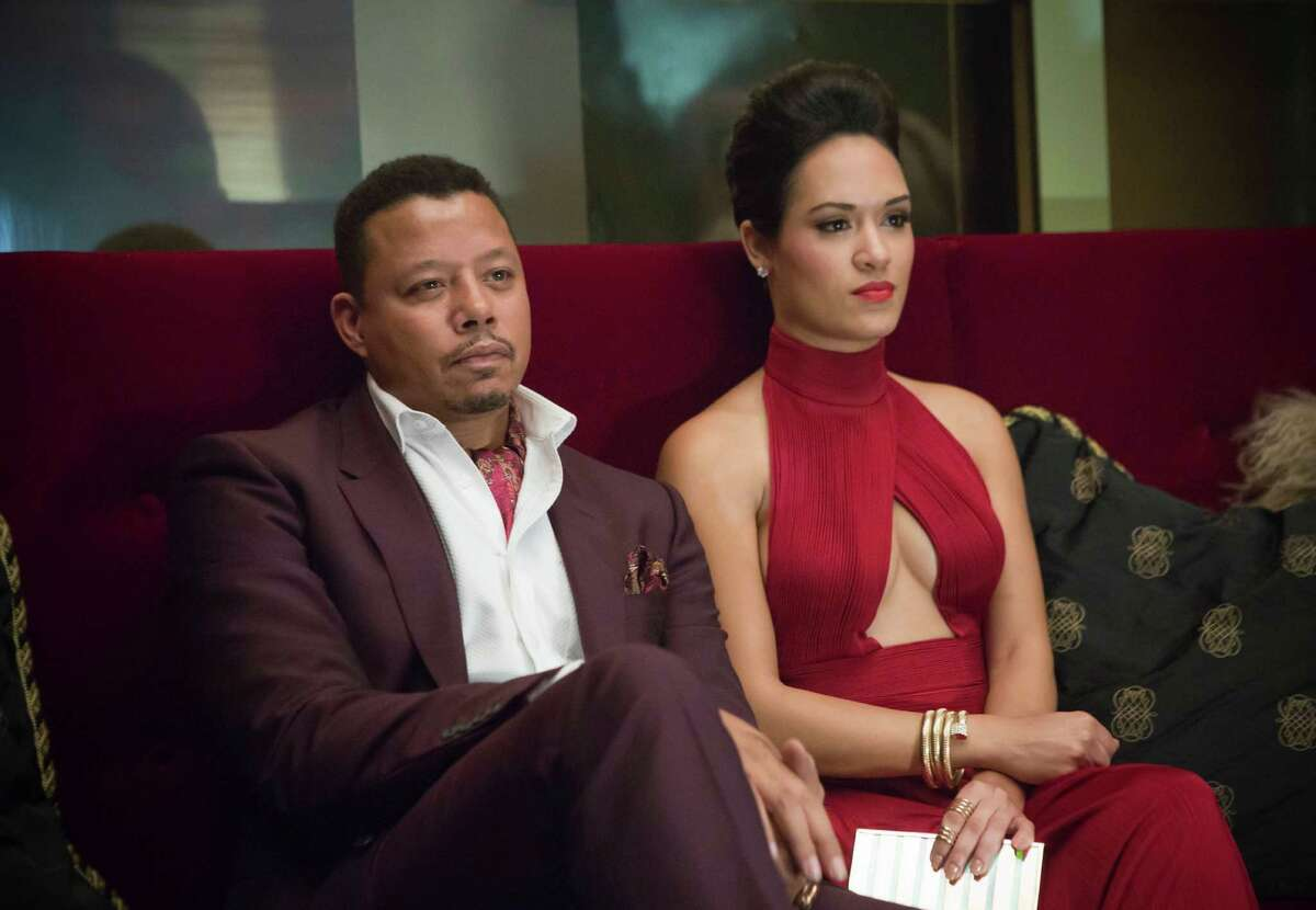 EMPIRE: Lucious (Terrence Howard, L) and Anika (Grace Gealey, R) also bring their style to the show.