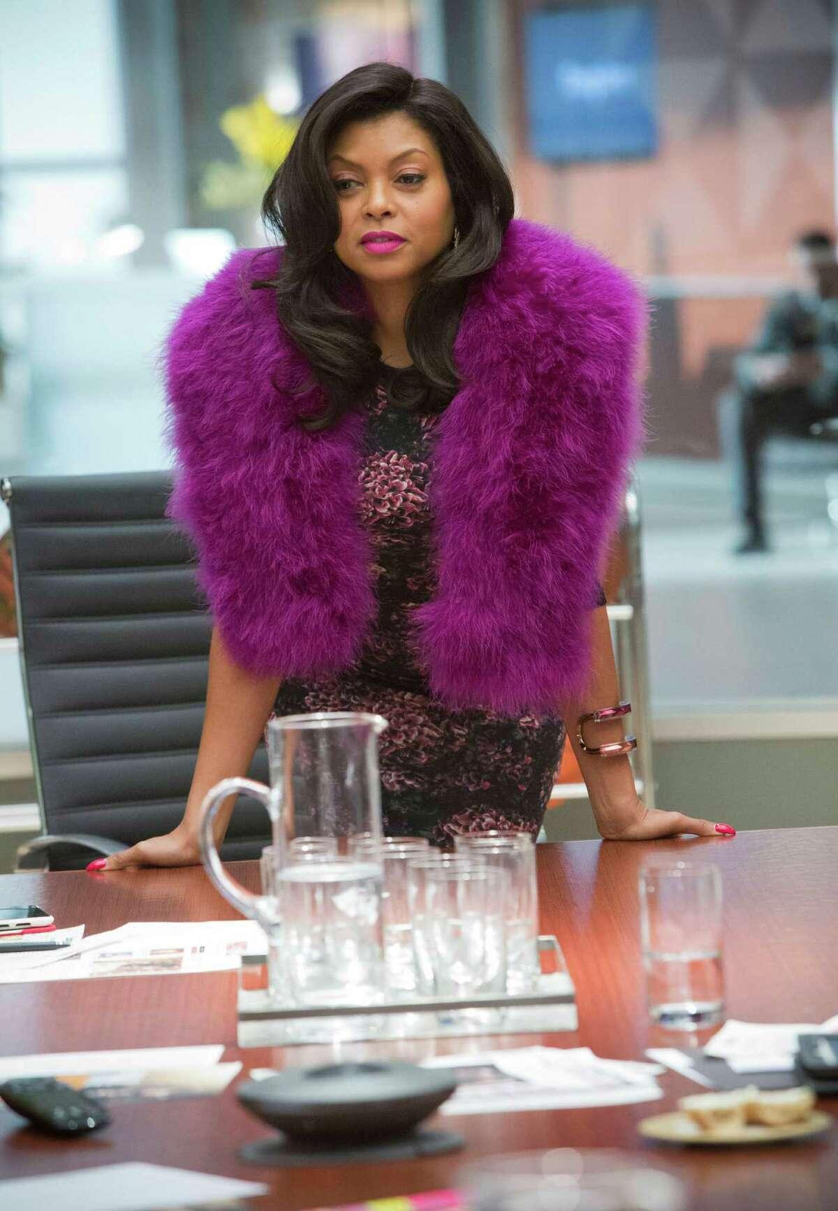 Cookie (Taraji P. Henson) demands attention in fur and fuchsia.
