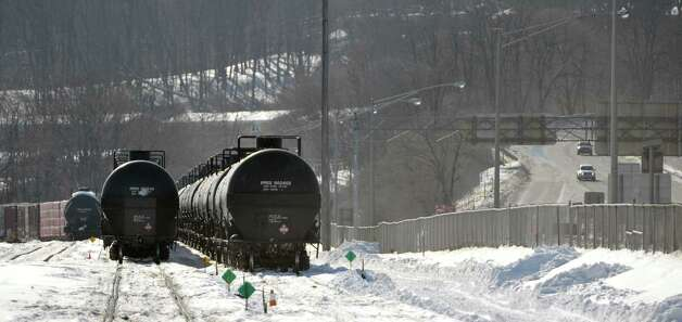 Tanker rail cars are seen at the Port of Albany on Tuesday, Feb. 17, 2015, in Albany, N.Y.     (Paul Buckowski / Times Union) Photo: PAUL BUCKOWSKI / 00030663A