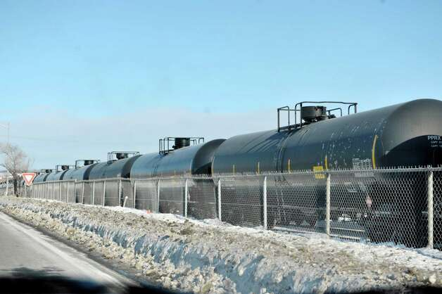 Tanker rail cars are seen at the Port of Albany on Tuesday, Feb. 17, 2015, in Albany, N.Y.     (Paul Buckowski / Times Union) Photo: PAUL BUCKOWSKI / 00030663A