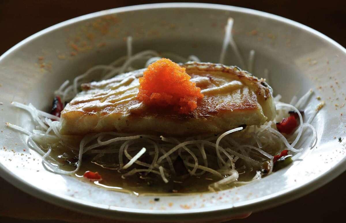 The Sea Bass appetizer from Godai Sushi Bar & Japanese Restaurant..