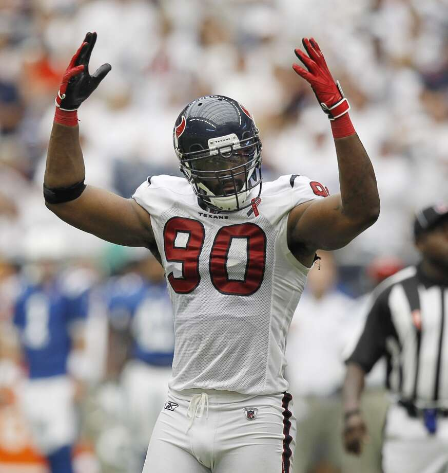 MARIO WILLIAMS, DE, TEXANSSchool: NC StateDrafted: First overall in 2006