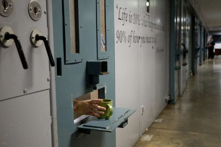 En una unidad de segregación administrativa en Huntsville, Texas. Photo: Brett Coomer, Houston Chronicle