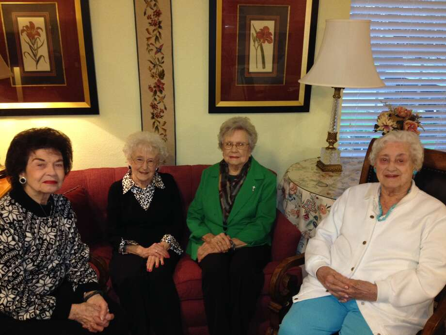 "Treemont residents Camille Scalise, Betty Davenport, Elizabeth Jahn and Ethyl Van Tineagnets, known as the Golden Girls, have become the community's ""welcoming committee."""