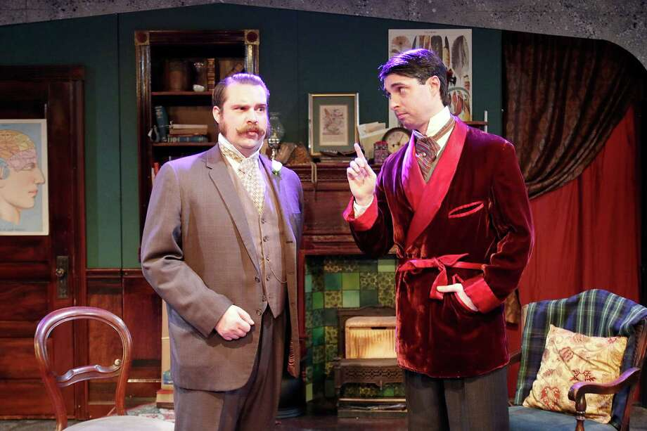 """Andrew J. Love, left, and John Johnston star in Classical Theatre Company's """"The Speckled Band: An Adventure of Sherlock Holmes."""" Photo: Pin Lim / Copyright Forest Photography, 2015."""