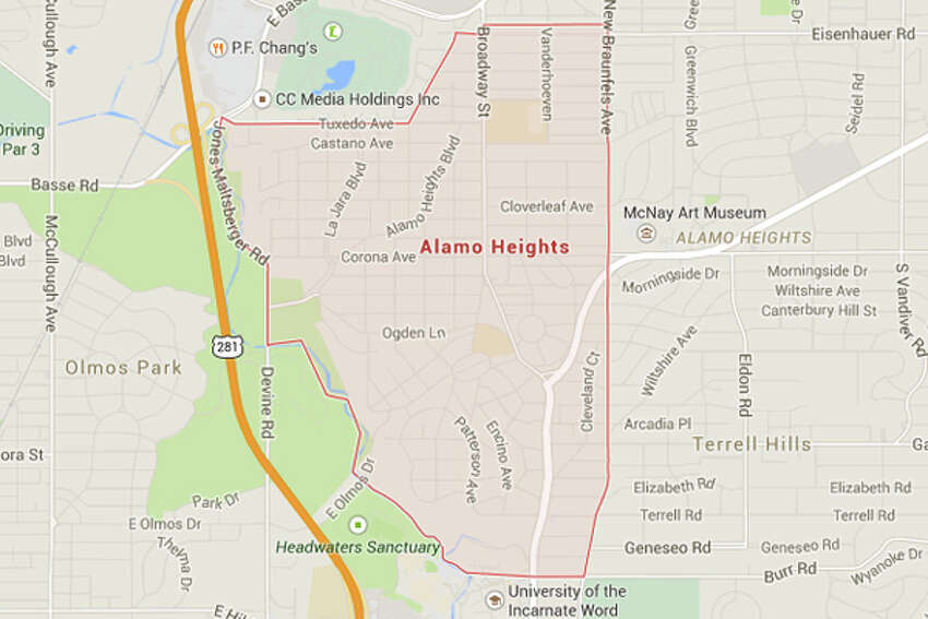 Alamo Heights: The only mobile device driving restrictions in Alamo Heights are the state ban in school zones. Other than that, you can talk and text on the phone all you want.