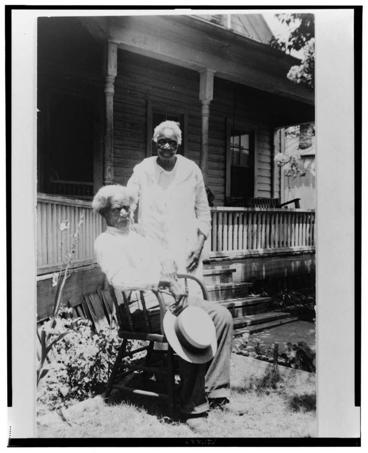 Former slave James Green - pictured here on June 25, 1937 - lived at 323 N. Olive St., according to slave narratives compiled by the U.S. Works Progress Administration.