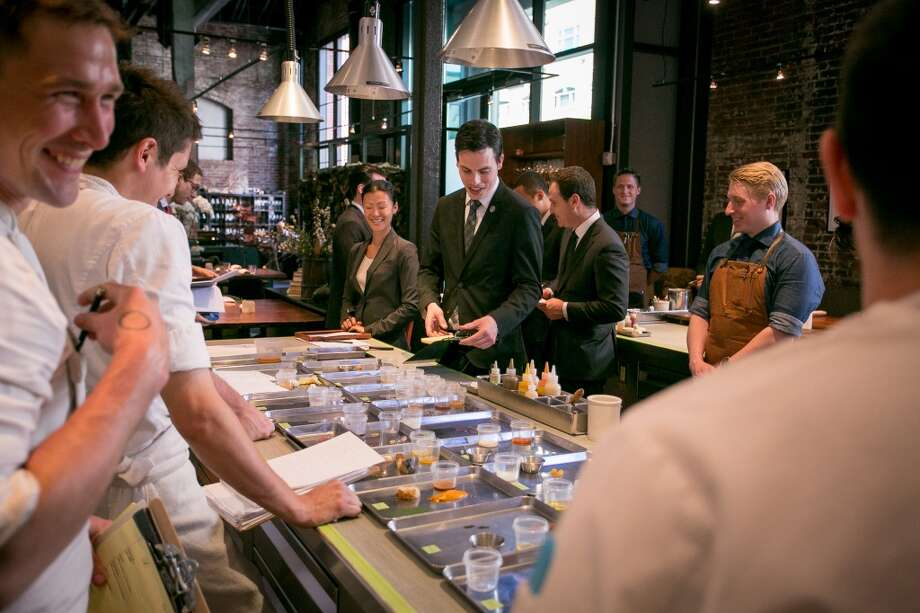 Perbacco in downtown San Francisco is one of the more popular choices for a power lunch, offering guests a place to conduct business over food. Photo: John Storey, Special To The Chronicle