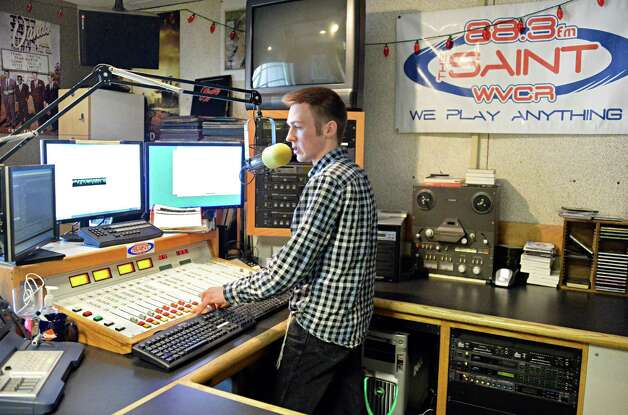Siena radio DJ Jimmy Buchanchan of Canojoharie in WVCR's main recording studio in the Sarazen Student Union on the Siena campus Thursday Jan. 29, 2015, in Colonie, NY.  (John Carl D'Annibale / Times Union) Photo: John Carl D'Annibale / 00030361A