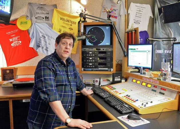 Siena radio station WVCR's general manager Darrin Kibbey in their main on-air studio in the Sarazen Student Union on the Siena campus Thursday Jan. 29, 2015, in Colonie, NY.  (John Carl D'Annibale / Times Union) Photo: John Carl D'Annibale / 00030361A