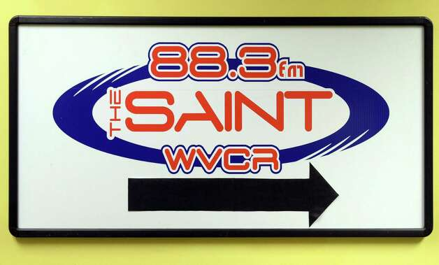 Sign at Siena WVCR's radio station in the Sarazen Student Union on the Siena campus Thursday Jan. 29, 2015, in Colonie, NY.  (John Carl D'Annibale / Times Union) Photo: John Carl D'Annibale / 00030361A