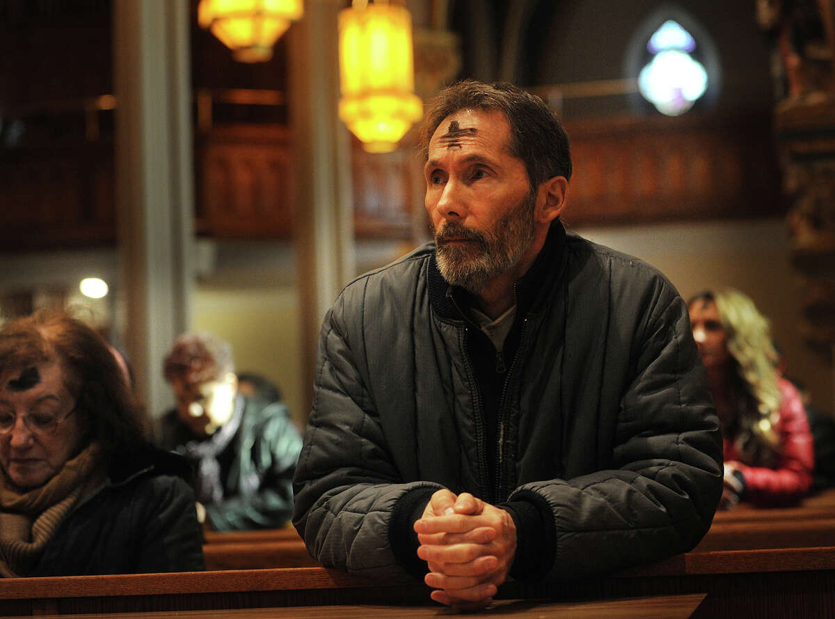 Vinny Capuano, of Bridgeport, attends Ash Wednesday mass at St. Augustine's Cathedral in Bridgeport, Conn. on Wednesday, February 18, 2015.