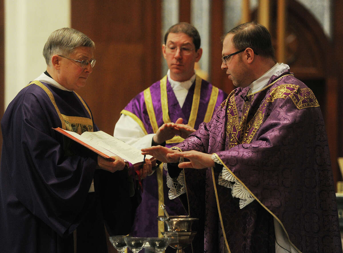 Ash Wednesday services at St. Augustine's Cathedral in Bridgeport, Conn. on Wednesday, February 18, 2015.