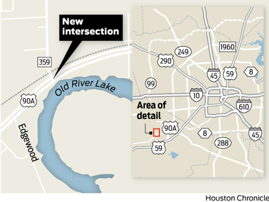 Spotter for elevated interchange to be built at intersection of FM 359 and US 90A