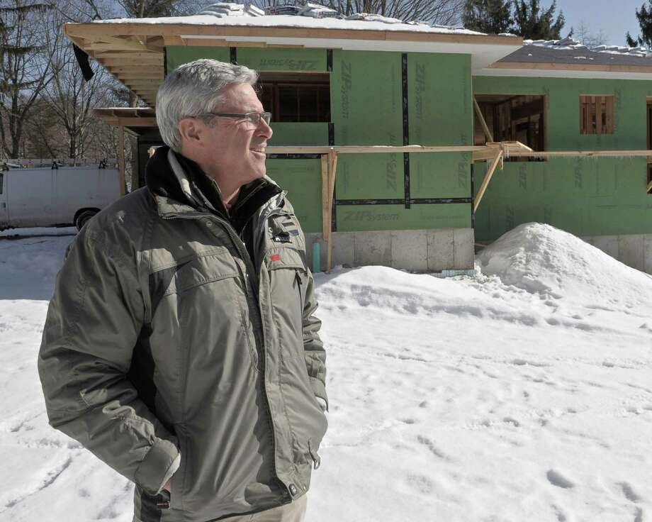 Jim Blansfield, of Blansfield Builders, on site at a home he is constructing on Candlewood Lake in Brookfield, Conn, on Tuesday, February 17, 2015. Photo: H John Voorhees III / The News-Times