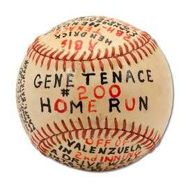 Gene Tenace's 200th career home run baseball, hit on Aug. 25, 1982 off Fernando Valenzuela.