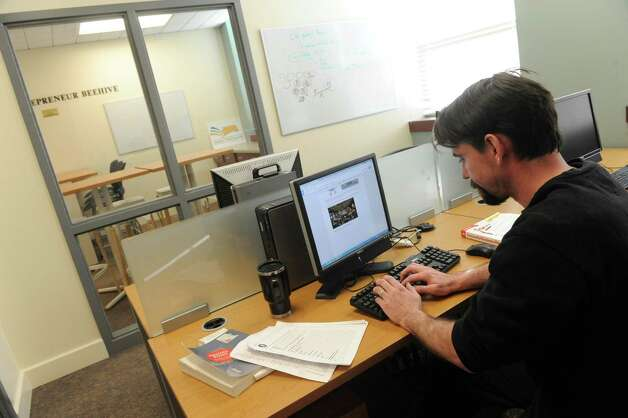 Siena College's Stack Center for Innovation and Entrepreneurship student Donald Seebald works at the college on Wednesday Feb. 11, 2015 in Loudonville ,N.Y.  (Michael P. Farrell/Times Union) Photo: Michael P. Farrell / 00030572A