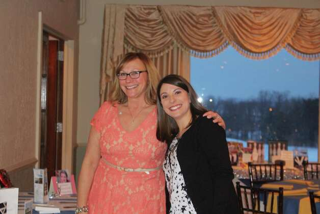 Bishop Maginn faculty members Barbara Miller and Tina Cardettino attend the High School?s ninth annual Blue and Gold Silent Auction on Saturday, Feb. 7, at the Shaker Ridge Country Club. (Submitted by Robin Jira)