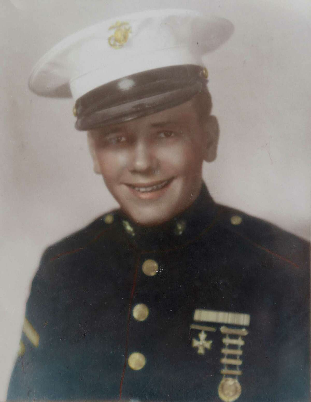 Bill Sherrill, then 15, lied about his age to join the U.S. Marines after Pearl Harbor.