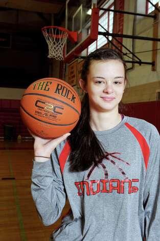 Glens Falls eighth grade basketball player Sophie Tougas on Saturday Feb. 14, 2015 in Glens Falls, N.Y. (Michael P. Farrell/Times Union) Photo: Michael P. Farrell / 00030611A