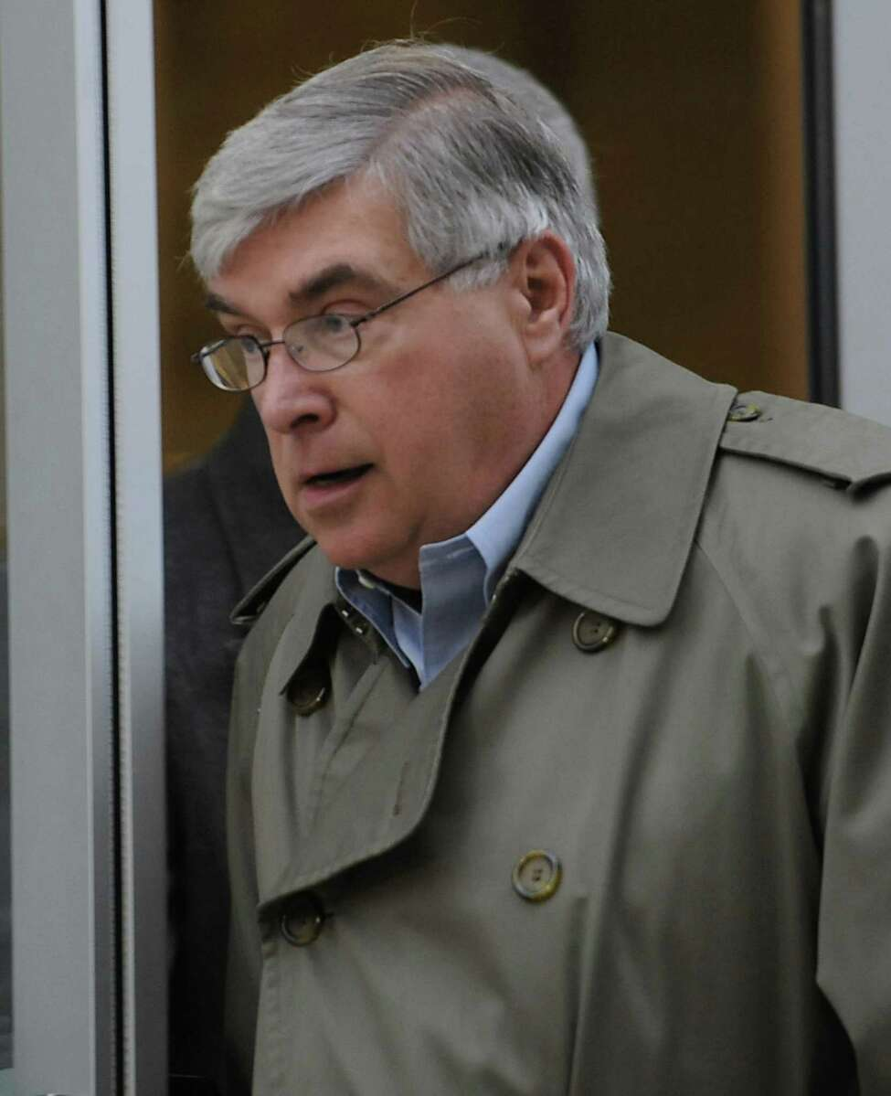 Timothy McGinn leaves the U.S. District Courthouse after his arraignment for fraud Friday Jan. 27, 2012 in Albany, N.Y. (Lori Van Buren / Times Union)