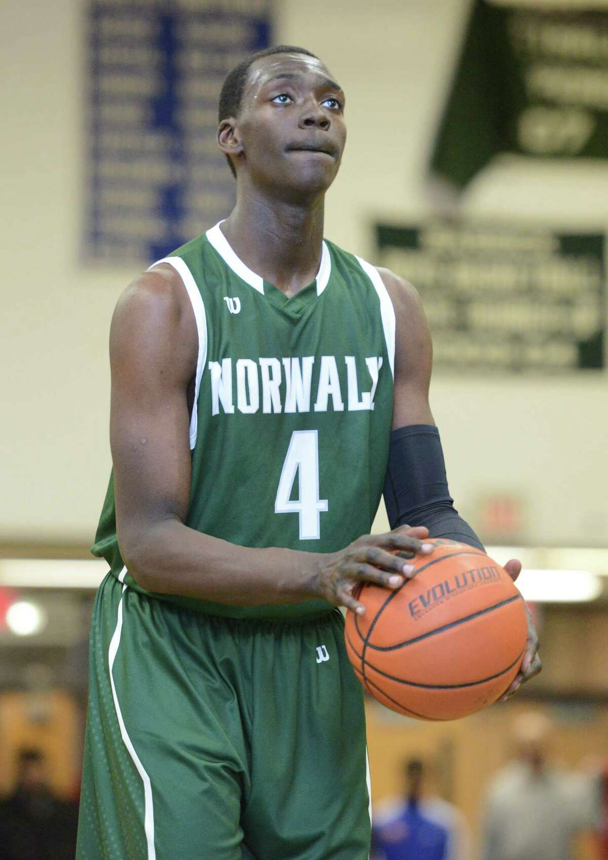 Norwalk's Roy Kane Jr. during their basketball game against Bassick Wednesday, Feb. 18, 2015 at Bassick High School in Bridgeport, Conn.