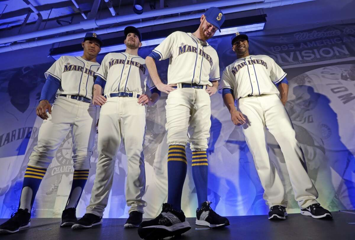 1. 2015 Sunday Alternate These are perfect. I have no complaints. Cream uniforms work so well in baseball, and the bold blue and yellow pop without being garish. If I had my way, the Ms would wear these all the time.