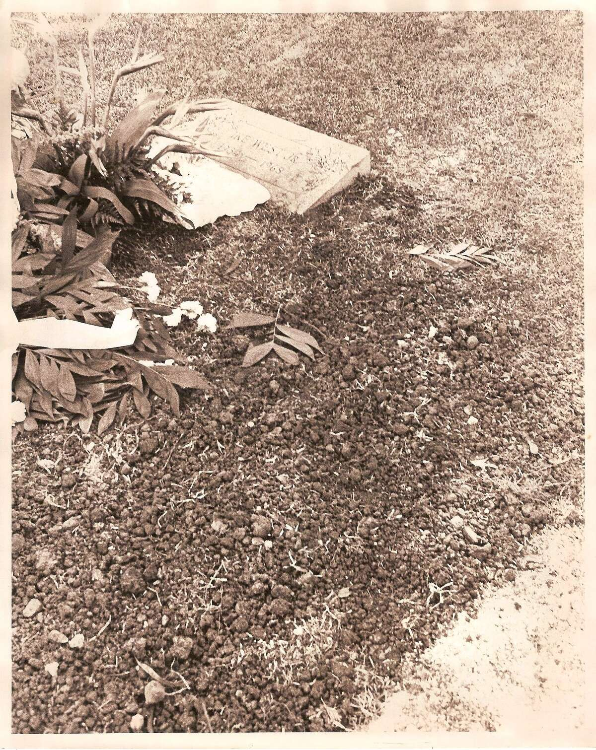 The grave site of Sandra West at the Alamo Masonic Lodge Cemetary, who requested to be buried with a Ferrari. West, who died in 1977, was the wife of oil millionaire Ike West, who died in 1968.