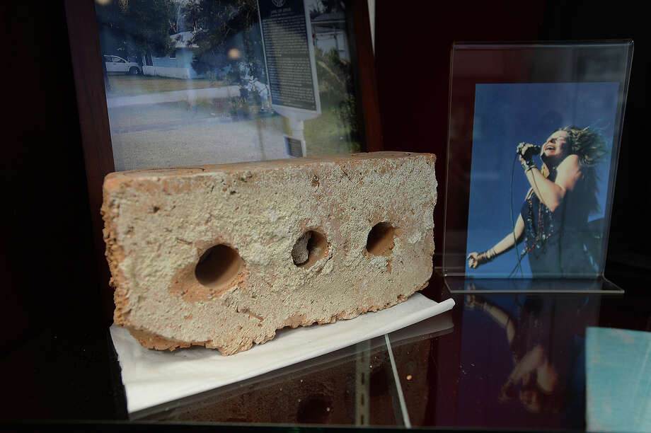 Bricks salvaged from Janis Joplin's childhood home at 4048 Procter Street in Port Arthur are available at the Museum of the Gulf Coast for $35.00. One of the authentic bricks was recently featured in a sale on the reality television series Pawn Stars. Photo taken Wednesday, February 18, 2015 Kim Brent/The Enterprise Photo: Kim Brent / Beaumont Enterprise