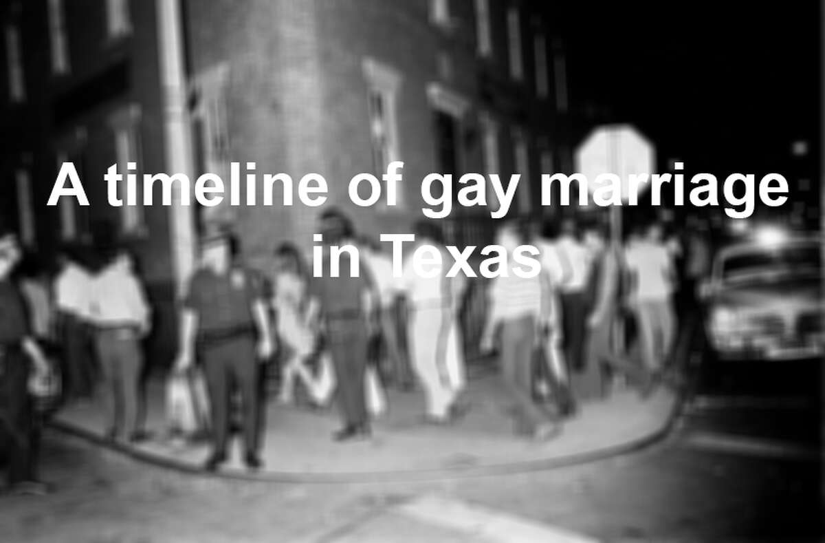 A timeline of gay marriage in Texas