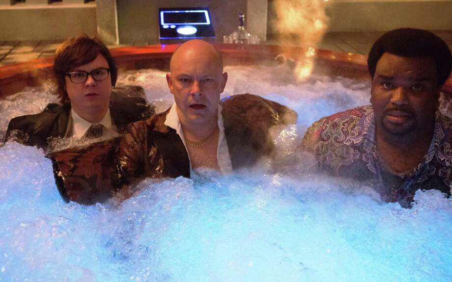 """Clark Duke, from left, Rob Corddry and Craig Robinson star in """"Hot Tub Time Machine 2."""" Photo: Paramount Pictures / © MMXIVMetro-Goldwyn-Mayer Pictures Inc andParamount Pictures Corporation. All Rights Reserved."""