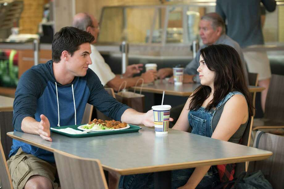 "Robbie Amell and Mae Whitman star in ""The DUFF."" Photo: Guy D Alema, HONS / CBS Films"