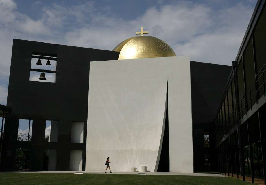 The Chapel of St. Basil, as seen from the University of St. Thomas quad. (For more photos related to Johnson, Houston and St. Thomas, scroll through the slideshow.) Photo: Sharon Steinmann, Houston Chronicle