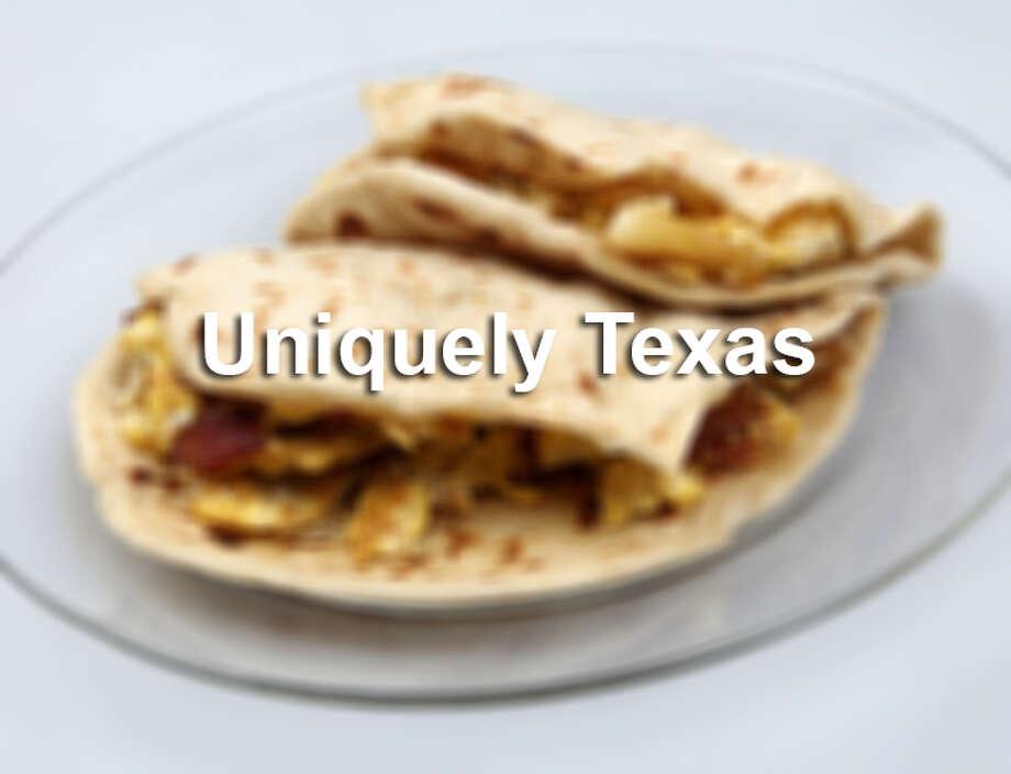 Bacon and egg, potato and egg tacos from Taqueria Chapala Jalisco Photo: Juanito M Garza, Courtesy / San Antonio Express-News