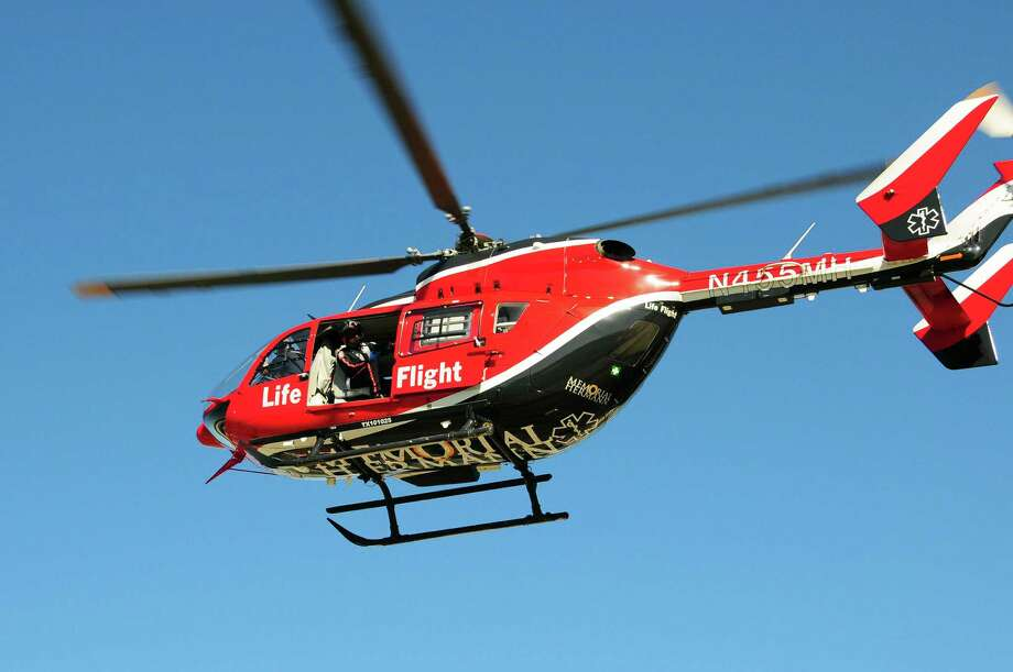 One of Life Flight's six air ambulance helicopters. Photo: == / Photo by Ryche Guerrero for Memorial Hermann Life Flight. Image may be reproduced and used, under the authority of Memorial Herm